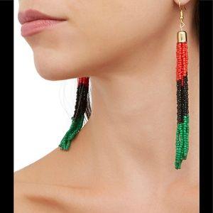 Tassel beaded earrings